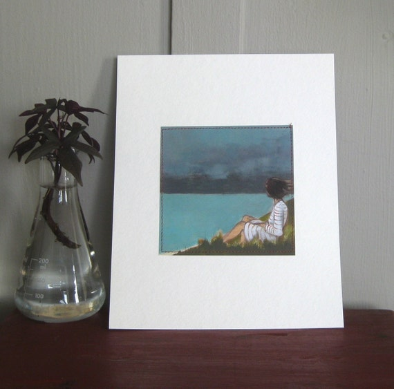 Island, sewn print