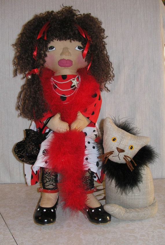 Dolly the Diva and her cat Debbie ready to go to the Party