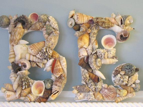 Пляж Декор Shell Письма - Seashell Буквы в BEACH, DREAM или Любой 5 Письма