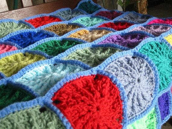 Grandad Square Crochet Pattern PDF Blanket Afghan