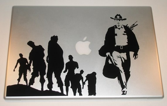 The Walking Dead Rick Grimes Laptop Decal Art Zombie macbook