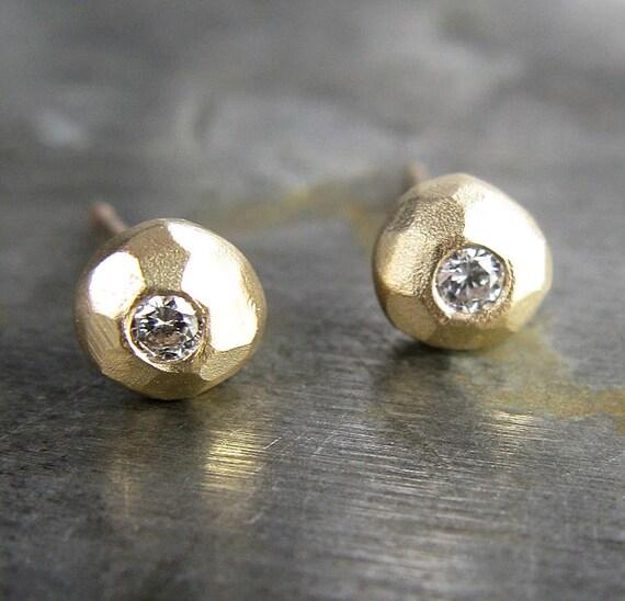 White Diamond Stud Earrings for Dress for Success