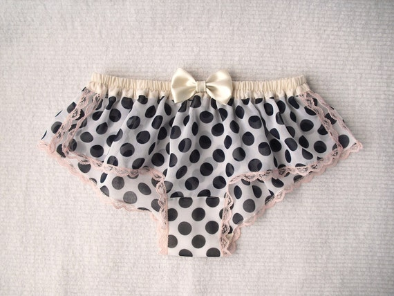 Dots Print Chiffon Sleep Boxer/style AMEDAMA(XS,small,medium)