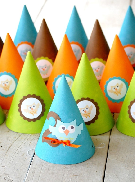 The OWL Collection - Custom Party Hats from Mary Had a Little Party