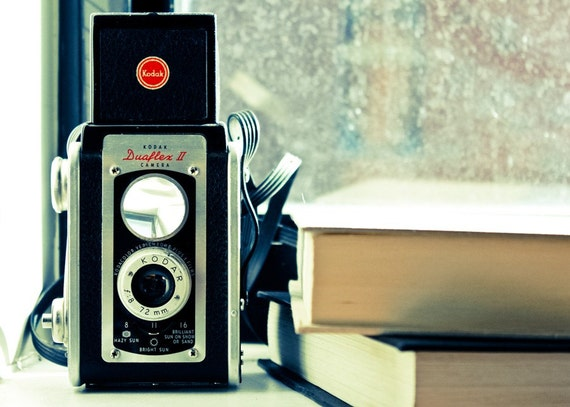 The Camera Corner - 5x7 Original Fine Art Photograph - Vintage Inspired Summer Retro Faded Kodak Still Life