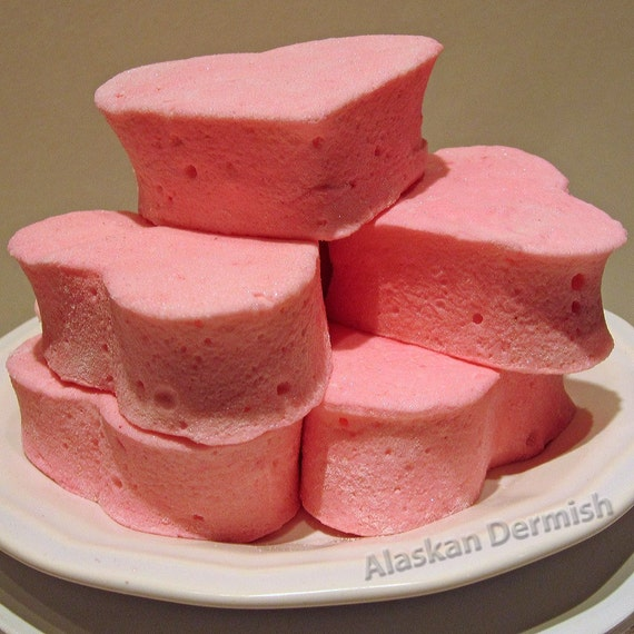 Heart Marshmallows, Pink Peppermint  - 3 piece
