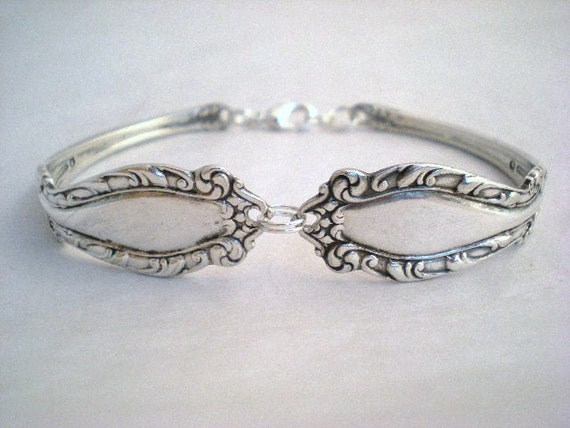 Spoon Bracelet  Silverware Jewelry Antique Spoon - FLEUR DE LIS 1899