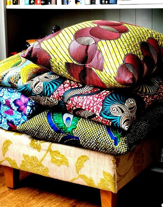 Custom made Scatter Pillows MIX and Match - three large 50x50cm throw pillow  covers- Genuine wax print batik 100% Cotton
