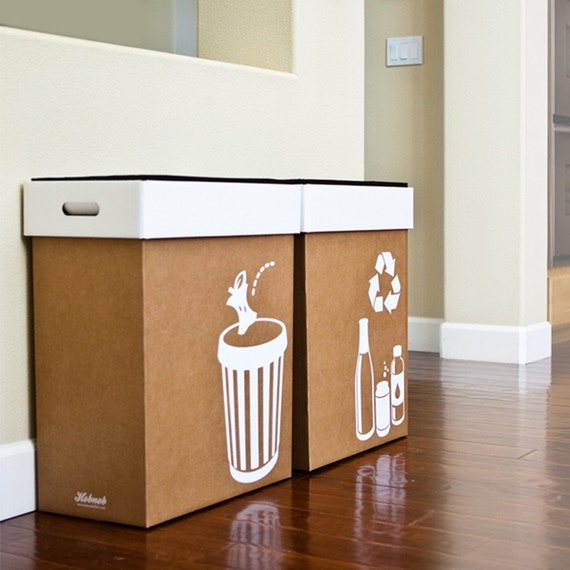 Hobnob Pop-up Party Bins - Trash and Recycle Bin Set