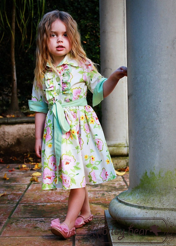 Pre-order- Easter Flowers Tuxedo Dress for baby, toddler, and girl