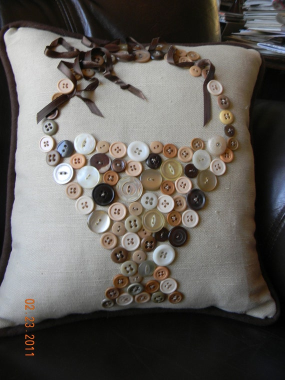 Button Basket Pillow
