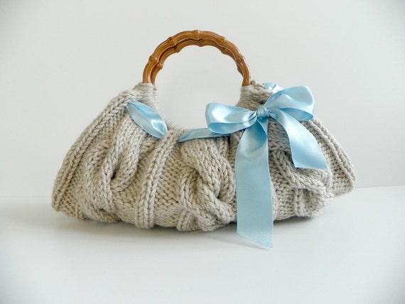 Трикотажные Сумочка - Бежевая сумка Nr-0120