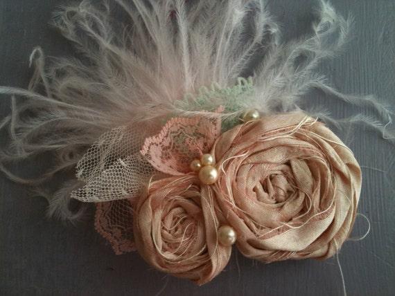Подружки невесты старинные розетки заколки для волос с перьями