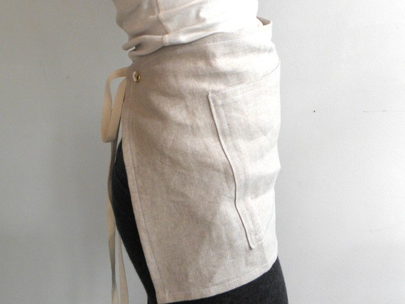 CAFE APRON - linen natural