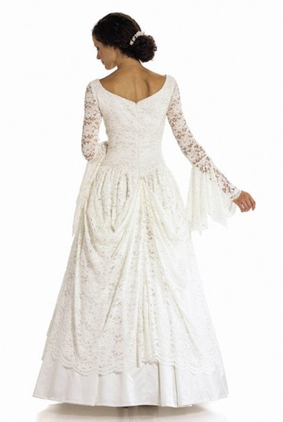 Ladies Burda Pattern 8198 Victorian Themed Wedding Dress or Ball Gown