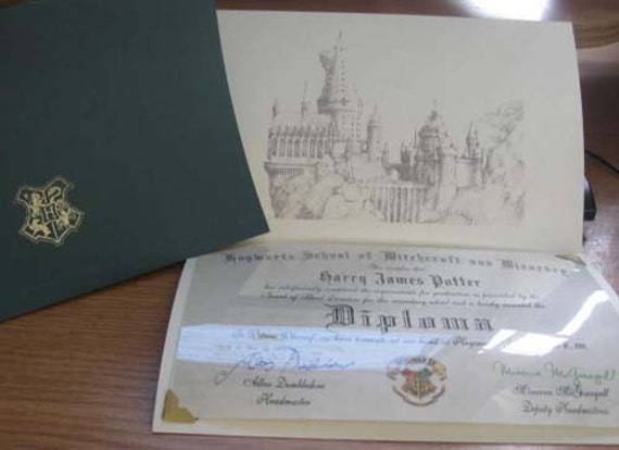 Harry Potter Personalized Hogwarts Diploma