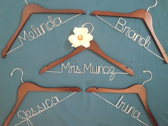 Modern Bride - Bridal Party - Personalized Bridal Hanger