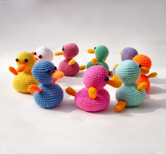 Amigurumi Duckling Crochet : Amigurumi duck crochet handmade plush traditional rubber ...