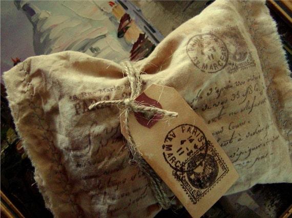 Набор из 3 Любовное письмо французской Пакетики - романтический французский сценарий (0268)