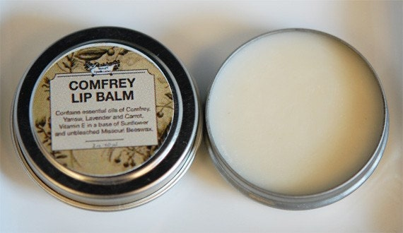 Mineral Lip Balm - Comfrey Carrot Oil, Vitamin E and Sunflower Oil.