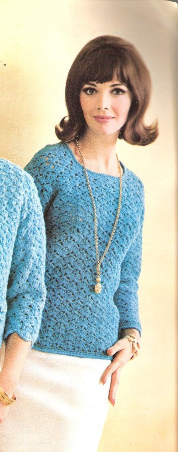 Free Knitting Pattern For Easy Lace Pullover Sweater Knitting Pattern