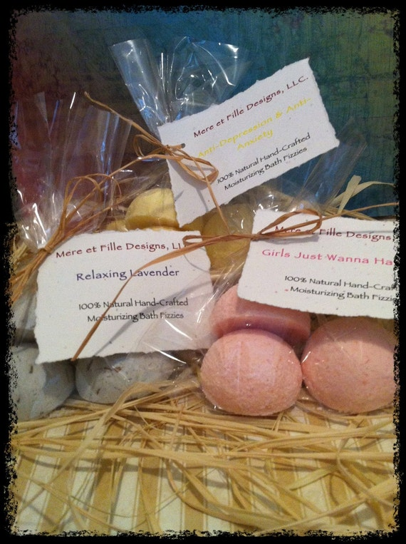100% Natural Bath Fizzies