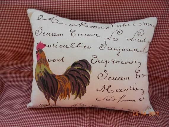 Rooster with French Writing
