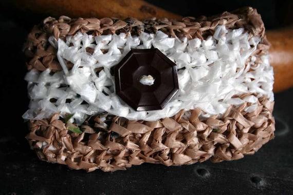 Браун Кнопка Пластиковый мешок бумажника