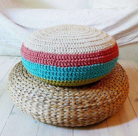 Crochet Almofada para Chão