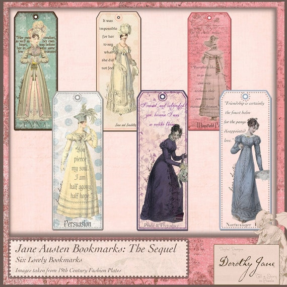 Jane Austen Bookmarks - The Sequel
