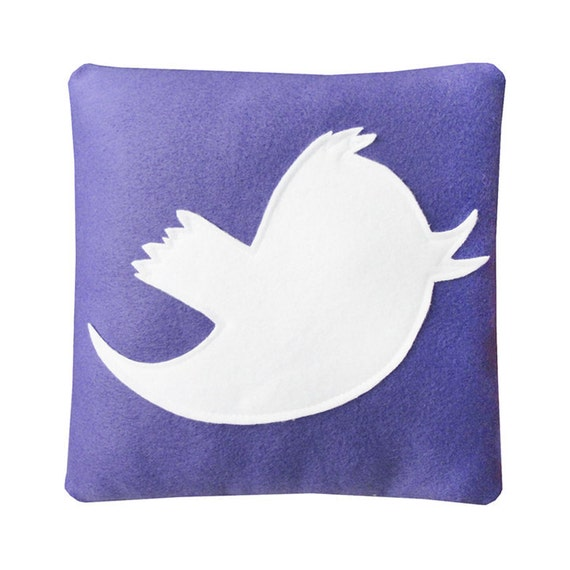 Anony Tweet Pillow - Purple