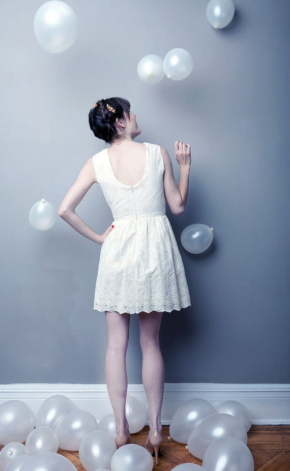 Save Her Soul Eyelet Dress - READY TO SHIP
