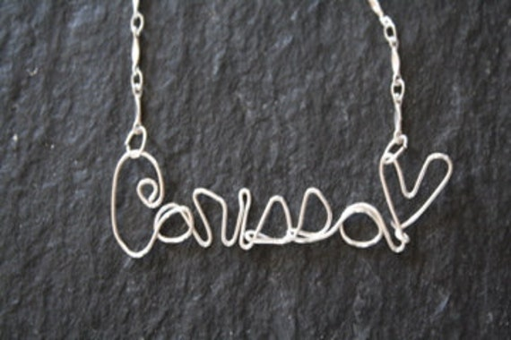 Custom Wire Wrapped Personalized Name Necklace