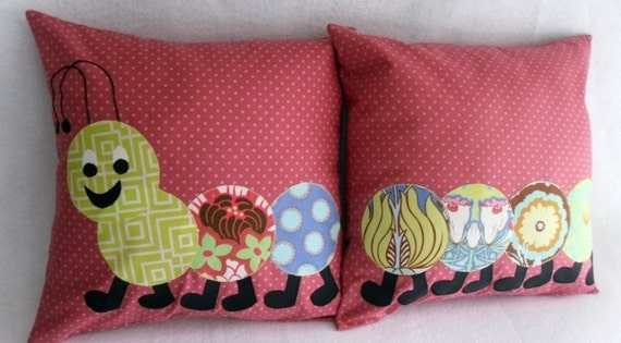 A Caterpillar Pillow Set