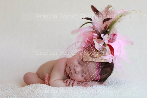 LOVE IS The ANSWER - mini top hat or hairpiece for special occasions and photo shoots,circus, pagents, babies, parties, magazine shoots