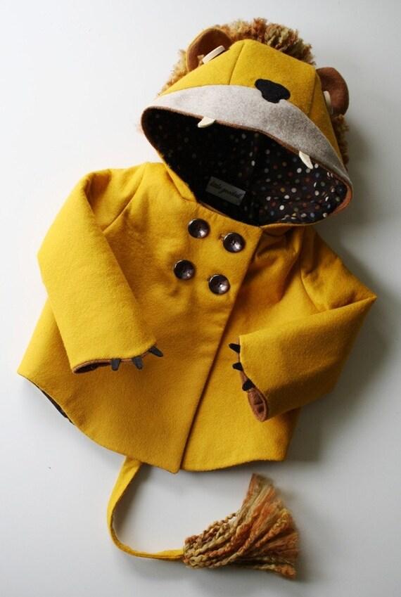 Ferocious Felt Lion Coat