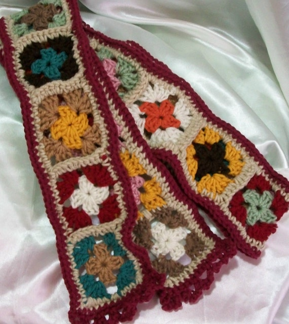 Extra Long Granny Square Scarf