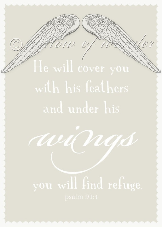 Wings Scripture Art Print - 5x7