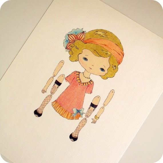 Кукла на шарнирах из картона
