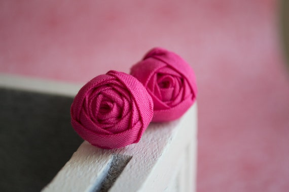 Berry Rosette Earrings
