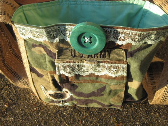 Leah Hip Bag- CUSTOMIZED for YOU from your military jacket/garment