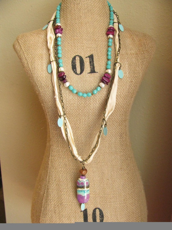 Miami Vice Colors Necklace