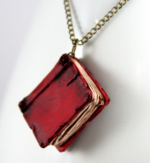 Beloved Red Book Necklace, jewelry, handmade