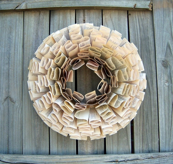 Shabby Chic Beautiful Ruffle Paper Wreath