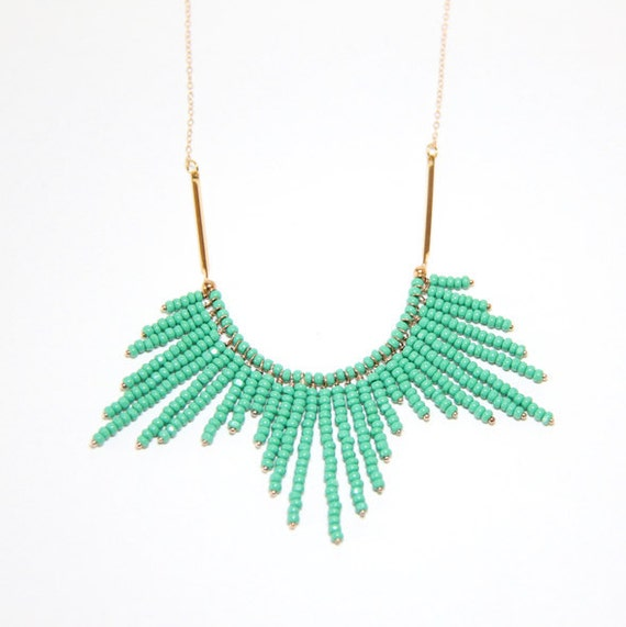 Turquoise Sunburst Necklace