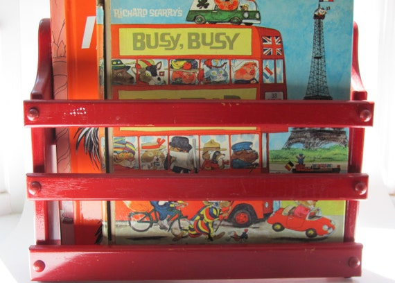 Vintage Hanging Book Rack