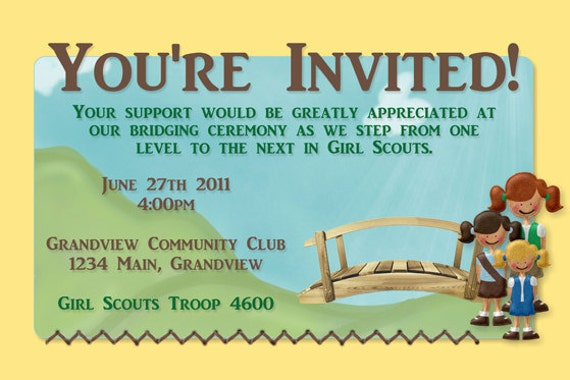 Girl Scout Bridging Ceremony Invitations