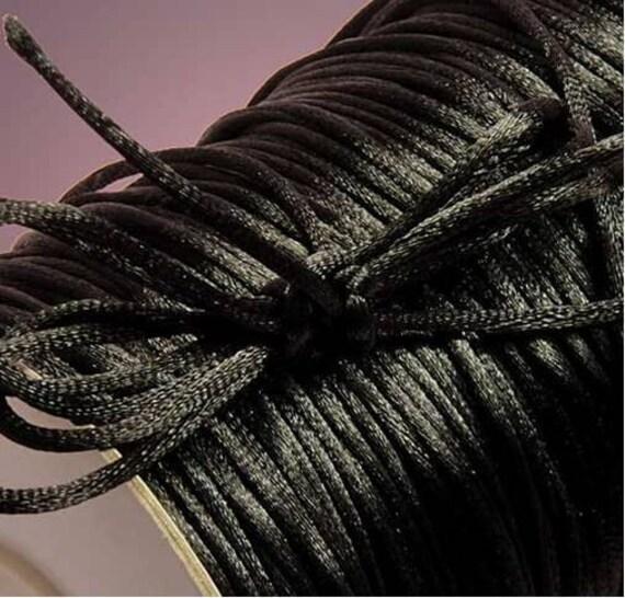 8 yards of 3mm black nylon