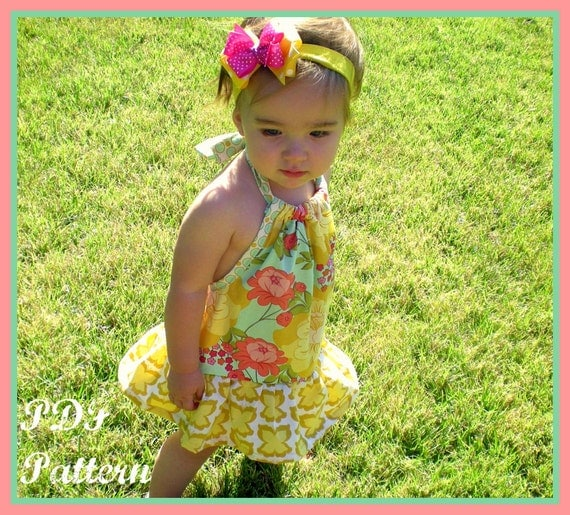Pillowcase Romper Pattern PDF sewing pattern...The Chelsea Romper 3m-5T, girls baby