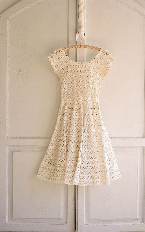 vintage lace crochet Spun Sugar dress